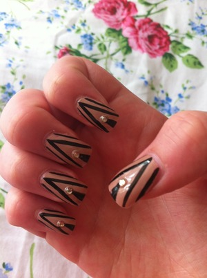 My new painted acrylic nails, love them 💅👍