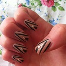 Acrylic striped nails