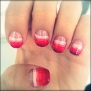 Ombre Pink Stripe Nails