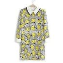 The New Fresh Printing Mess Capri Sleeve Girls Dress