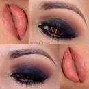 Smokey eye nude lips