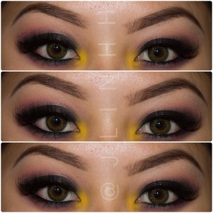 Simple smokey eye w/ a pop of color! .. Or two :)