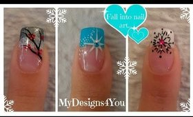 3 Winter French Tip Nail Designs | Winter Nail Art Ideas ♥