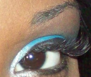 Blue and SIlver Look. Tutorial Video on YouTube titled Blue Ivy Eyes.