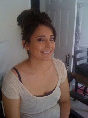 Brides Hair & Makeup Client! www.shaniltonsvirtuouscreations.webs.com