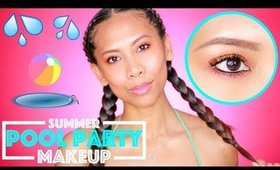 Summer Pool Party Makeup Tutorial + Giveaway | CRUELTYFREE | AirahMorenaTV