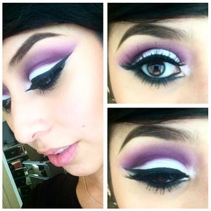 Shock-a-holic in crease, Gesso on lid! #2s and #3s stacked! Black black chroma liner ALL FROM MAC @cheri_rii