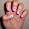 Hello Kitty and Polka dot tips :D