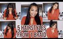 5 EASY HAIR STYLES FROM 1 BRAID, PERFECT FOR THE HOLIDAYS