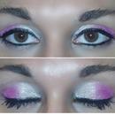 hot pink eye shadow