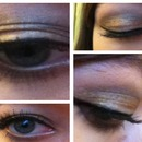 Gold and silver neutral smoky eye