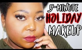 5-minute Holiday Makeup Tutorial