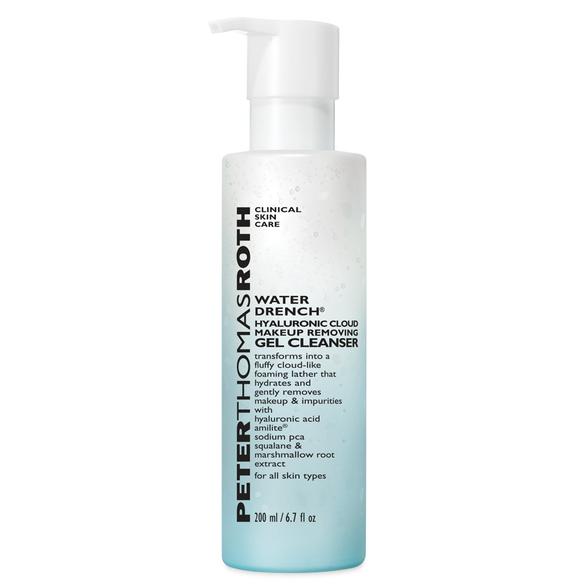 Peter Thomas Roth Water Drench Hyaluronic Cloud Makeup Removing Gel Cleanser alternative view 1 - product swatch.