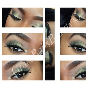 Mac eyeshadows -Lucky green -Sumptuous olive -Humid -Carbon -Swiss chocolate 104 lashes