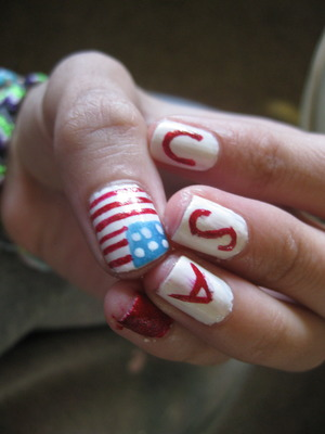 Patriotic nails My own creativity was used