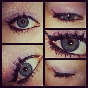 new eye look i tried out today :)