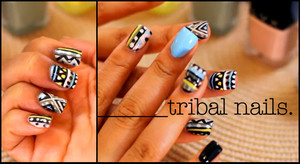 Check out my tribal nails tutorial (in my videos section) ft. LVX nail polish  youtube.com/bbeautymarkd