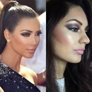 inspired make up look Kim Kardashian.
