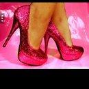 Glitter hot pink heels!