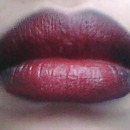 ombre red and black lips