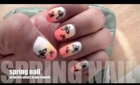 EASY SPRING  BUTTERFLY NAILS !!!!