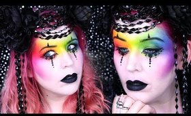 Goth Rainbow? Makeup Idea for Halloween
