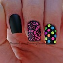Neon Studs Nails