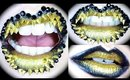 Golden Shark Teeth Lip Art Tutorial ft Born Pretty, OCC, Sugarpill & ScraPerfect