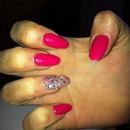 Girlie pink nails