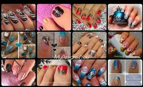 Winter, Christmas, Festive Nail Art Designs Compilation  ♥
