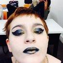 Cat woman inspired makeup look