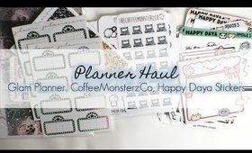 Planner Haul: GlamPlanner, Happy Daya, CoffeeMonsterzCo | yukieloves // warmvanillasugar0823