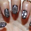Black and white: border nails