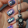 Cute Robot Nails!