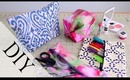 DIY Pencil Case & Makeup Bag {Back To School How to} No Sew & Sew