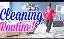 CLEANING ROUTINE | HUSBAND DOES VOICEOVER!