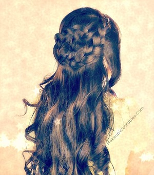 This easy hairstyle video tutorial can be found on my YouTube channel.  Enjoy!  :)  http://youtu.be/XANxqVfoq8M
