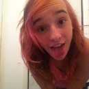 Pink hair.<3