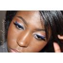 Blue Liner & Nude Lipstick