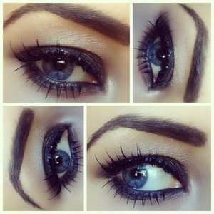 My eye makeup of the day. Ask if you want to know what I used :)