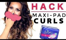 WEIRD HAIR HACKS ★ Maxi Pad Curls - HEATLESS WAVES OVERNIGHT   MAKEUPWEARABLES HAIRSTYLES