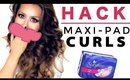 WEIRD HAIR HACKS ★ Maxi Pad Curls - HEATLESS WAVES OVERNIGHT | MAKEUPWEARABLES HAIRSTYLES