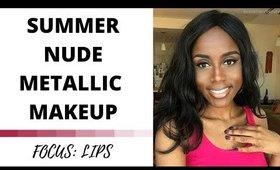 Metallic Nude Lips | RosemaryBeauty