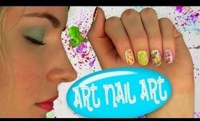 Art Nail Art! Nail Tutorial for 5 Easy Nail Art Designs. No Nail Art Tools Needed!