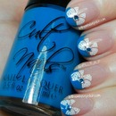 Blue Tips with Cult Nails