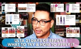 ULTA 21 DAYS OF BEAUTY | What to try and How to Apply it | mathias4makeup