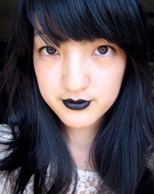 Just tryin' out Portland Black Lipstick.
