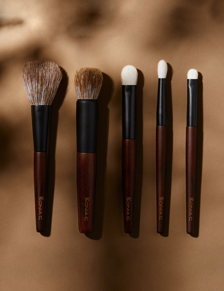 Alternate product image for Keyaki Brush Set shown with the description.