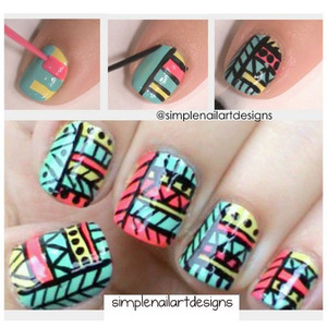 Tribal Print Nail Art! 