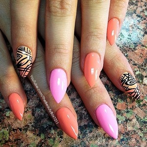 Stiletto nails for summer
